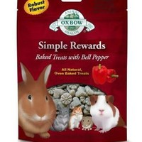 Oxbow Simple Rewards Baked Bell Pepper Small Pet Treat 2oz