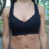 Lace Bralette - Black