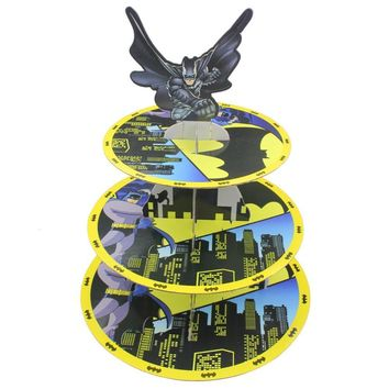 Betop House 3-Tire Batman Themed Party Cupcake Dessert Stand