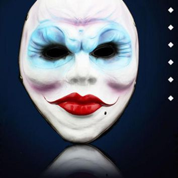 Halloween Horror Resin Full Face Masks The Game Harvest Day 2 Series Of Female Robbers Mask Masquerade Party Cosplay Props