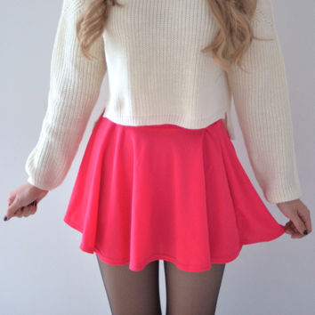 Carrie Circle Skirt - Pink