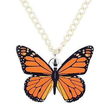 Realistic Acrylic Butterfly Pendant
