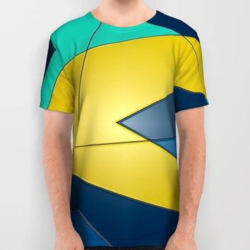 Yellow and Blue All Over Print Shirt by DuckyB (Brandi)