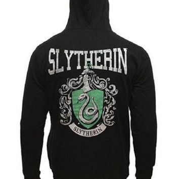 Harry Potter Slytherin House Shield Adult Zip-up Hoodie