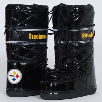 Cuce Shoes Pittsburgh Steelers Ladies Admirer Boots - Black - http://www.shareasale.com/m-pr.cfm?merchantID=7124&userID=1042934&productID=525394327 / Pittsburgh Steelers