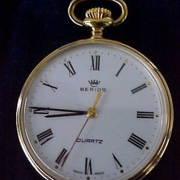 Berios Swiss Roman Numeral Pocket Watch No Cost To Send