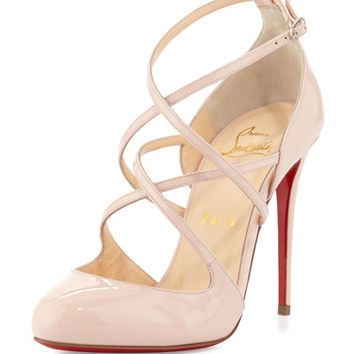 Christian Louboutin Soustelissimo Strappy Red Sole Pump, Ballerina