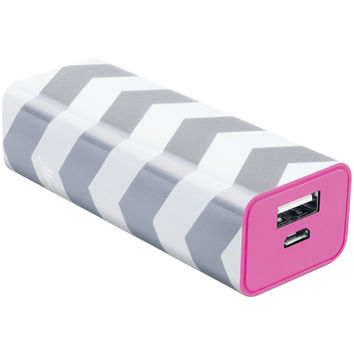 The Macbeth Collection 2200mah Power Bank (rugby Chevron Silver)