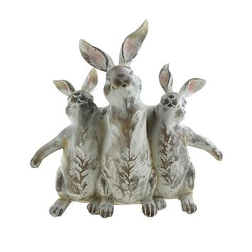 Bunny and Friends Home Decor Figurine, 10-1/4-Inch