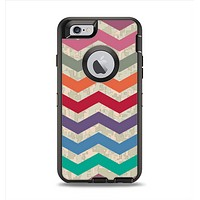 The Retro Chevron Pattern with Digital Camo Apple iPhone 6 Otterbox Defender Case Skin Set