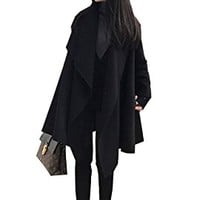 Women's Jacket Coat Casual Loose Fitting Winter Autumn Black