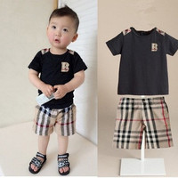 Plaid Short & Shirt Set