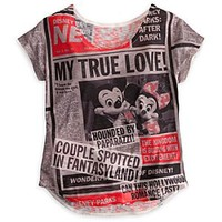 Mickey Mouse and Friends Tabloid Tee for Women - Disney Parks | Disney Store