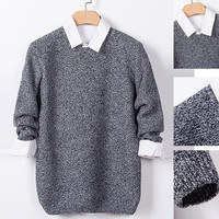 Heathered Pullover Sweater