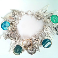 Lord of the rings charm bracelet - ring cameo