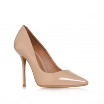Kurt Geiger | ELLEN Nude patent court shoe by Kurt Geiger London