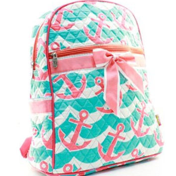 Splash Anchor Backpack Bookbag FREE Personalization Dance Bag Swim Bag Cheer Bag Diaper Bag School Backpack Birthday Flower Girl Gift