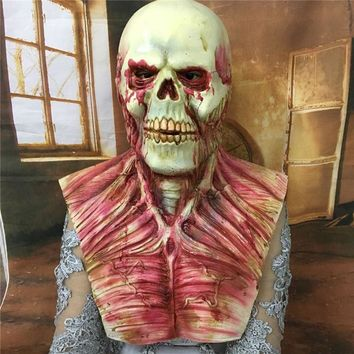 Realistic Latex Scary Devil Zombie Mask Horrible Monster Skull Full Face Mask Halloween Home Party Cosplay Masks Props Costumes