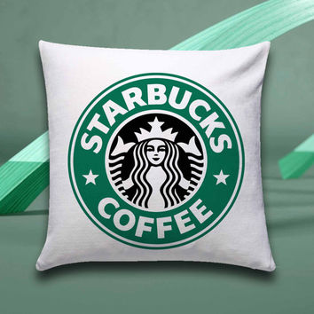 starbucks coffee Pillow case size 16x16, 16x24, 18x18, 20x30, 20x26