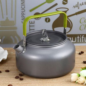 CREYU3C Portable 1.2L Teapot Kettles Aluminum Water Kettle Ultra-light Camping Survival Kettle Tea Coffee Pot Anodised Aluminum Outdoor