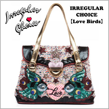 ★ ★ Irregular Choice birdpatchworktzeedhandbagirregularchoice /BAG / bird / star / bling / gold / black / animal / autumn/winter 2016 AW