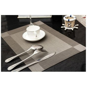 4 Pcs/lot Placemat Fashion PVC Dining Table Mat Disc Pads Bowl Pad Coasters Waterproof Table Cloth Pad Slip-resistant Pad