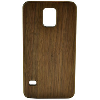 Wooden Case Samsung Galaxy S5 Cell Phone Protector Walnut Br Brown