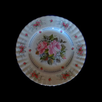 1st Edition Happy Birthday Plate Royal Albert England 8""