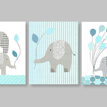 Elephant Nursery, Complements Olli and Lime Forest and Sweet Jojo Zig Zag Turquoise Bedding, Gray and Aqua, Gray and Teal Nursery