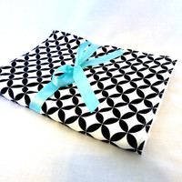 Baby Blanket - Black and White Baby Blanket - Diamond Eyes Fabric by Alexander Henry - White Minky Fabric Backing - Gender Neutral Blanket
