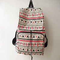 aztec backpack,hipster backpack,  tribal backpack, ethnic rucksack, navajo  boho school bag, ikat bag, travel bag