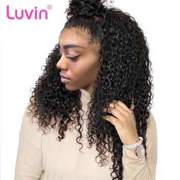 360 Lace Frontal Wigs For Black Women Pre Plucked Natural Hairline Malaysian Curly Remy Human Hair Wigs For Black Women