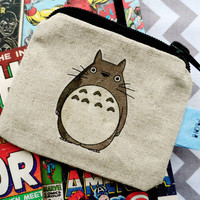 Linen Totoro ECO Coin Purse -Kawaii/Kitsch