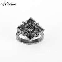 MQCHUN Dishonored 2 Emily's Ring Vintage Antique Silver Color Imperial Signet Sizes 6 Rocklove