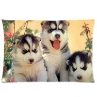 "Cute Puppy Pillowcase Covers Standard Size 20""x30"" CC4387"