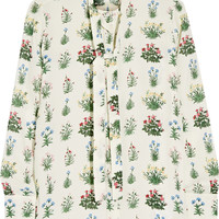 Valentino - Printed silk-georgette blouse