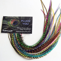 50 Loose Feathers SALON PACK Feather Hair Extensions by pluckyou
