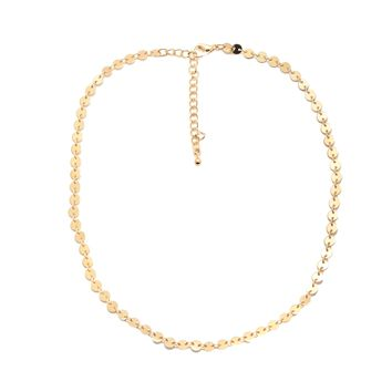 Cute Little Coin Chain Choker Necklace