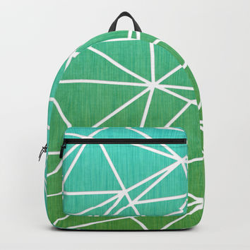 Abstract geometric | green & turquoise Backpack by edrawings38