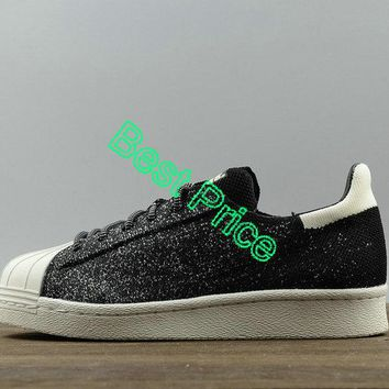2018 Legit Cheap Unisex Adidas Originals Superstar 80s PK ASG Black White S32029 sneaker