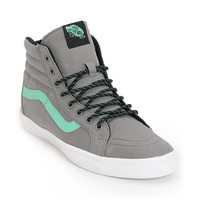Vans Sk8 Hi Lite Frost Grey & Green Canvas Shoe at Zumiez : PDP
