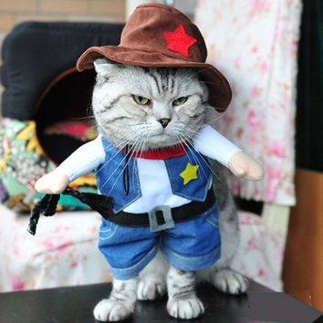 Cute Cat / dog costume sheriff police officer nurse