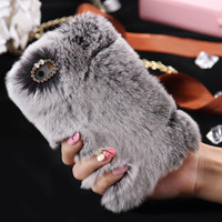 Malloom 2016 Warm Fluffy Villi Fur Plush Wool Bling Case Cover Skin For iPhone 6/ 6S 4.7inch Cell phone cases #LYMA4