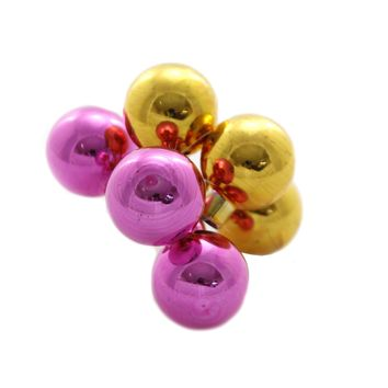 Shiny Brite VINTAGE CELEBRATION CLUSTERS. Ornaments Christmas 4027651 Yellow