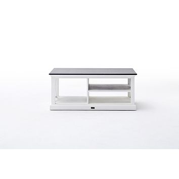 Halifax Contrast Coffee Table White-Black Top semi-gloss