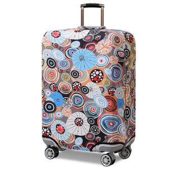 Abstract Painting Luggage Protective Cover Men's Women's Elastic Suitcase Travel Case Trolley Dust Rain Bags Accessories Supply