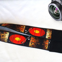 Vintage Music Player  Camera Strap. Music Camera Strap.Camera Accessories