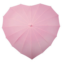 Baby Pink Heart Shaped Umbrella customised with rhinestones
