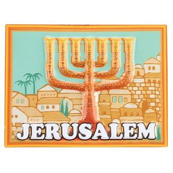 Plastic 3D Magnet Israel Cities Theme