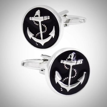 Navy Anchor Cuff-Links for Marine Men